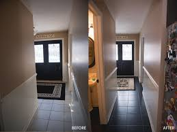 painted tile floor using b i n primer and behr concrete garage floor paint no