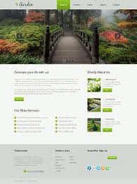 Custom Website Design Exterior Design Design Responsive Custom Extraordinary Garden Web Design Design