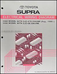 1995 1996 toyota supra wiring diagram manual original