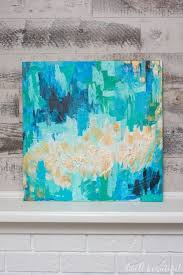 make beautiful abstract canvas art for you home you don t even need to be an artist to do it follow along with this easy tutorial for diy art you ll love on dwell abstract wall art with monthly diy challenge abstract canvas art that anyone can make