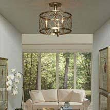 semi flush mount ceiling lights. Silver Leaf Three Light Semi-Flush Mount Semi Flush Ceiling Lights T
