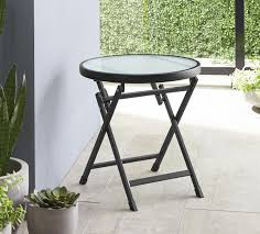 mainstays glass top folding side table