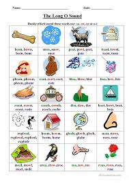 Phonics is a method of teaching kids to learn to read by helping them to match the sounds of letters, and groups of letters, to distinguish words. Long O Worksheet English Esl Worksheets For Distance Learning And Physical Classrooms