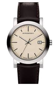 brown brit mens watch burberry watch style and chambray burberry leather strap watch nordstrom