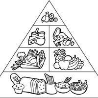 Food Pyramid Coloring Pages Surfnetkids Food Pyramid