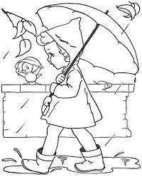 Pioggia Autunno Disegni Per Bambini