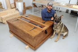 Sudbury craftsman unveils oak chest inspired by medieval knight ...