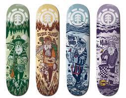 Artist Designed Skateboards This Ol Dog Series Element Skateboards Linoleum Carving
