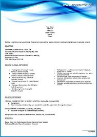 graduate nurse resume template new graduate nursing resume template isale
