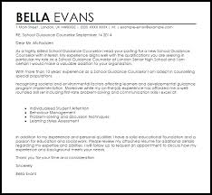 Sample Cover Letter For In A School School Guidance Counselor Cover Letter Sample Livecareer