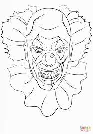 Scary Clown Coloring Pages Halloween Pinterest Masque De