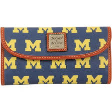 Women s Dooney   Bourke Michigan Wolverines Team Color Continental Clutch