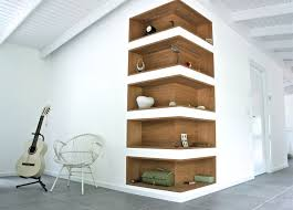 corner furniture. tagre niche en coin wooden shelve carved in a corner wall furniture