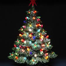 Ceramic Christmas Trees Christmas Moment S1AKGGIT  I Love Ceramic Tabletop Christmas Tree With Lights