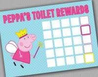 Peppa Pig Potty Training Reward Chart Printable Peppa Pig Potty Training Chart Peppa Pig Potty Toilet
