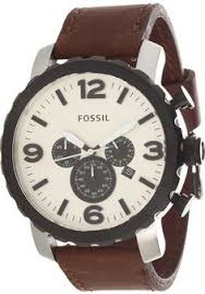 fossil watch men s chronograph nate antiqued stainless steel fossil jr1390 nate leather watch brown < 89 00 > fossil watch men