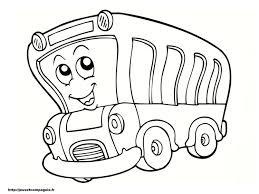 Image Coloriage Autobus Gratuit