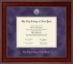 the city college of new york presidential silver engraved diploma  the city college of new york presidential silver engraved diploma frame in jefferson item 258803