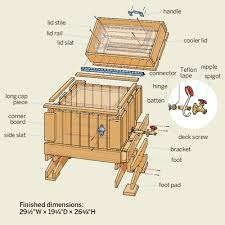 outdoor wooden furniture plans     Art of WoodworkingDIY Wooden Ice Chest Cooler Plans Download wooden lighthouses plans