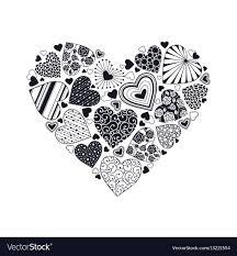 decorative heart shape vector image