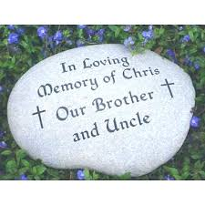 memorial garden stones for dad large engraved river rock stone memory i love you d