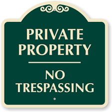 Decorative No Trespassing Signs Designer No Trespassing Signs 2