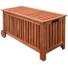 outdoor storage bench deck box garden wooden patio porch cushion pillow storage 1 of 7only 5 available