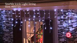 Gemmy Icicle Lights Gemmy Lightshow Sparkle 85725 Sparkle Icicle White Color Light String