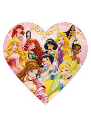 Disney Princess Cake Topper Party Icing Sugar Heart Shape 546