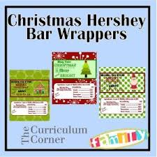 chocolate bar wrappers free printable christmas themed hershey bar wrappers make great