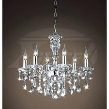 6 light crystal chandelier creative of lighting crystal chandeliers shine 6 light gleaming chrome crystal chandelier
