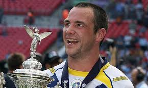 Adrian Morley celebrates after winning the Challenge Cup final with the Warrington Wolves. Photograph: David Rogers/Getty Images - Adrian-Morley-celebrates--001