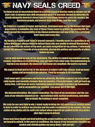 Navy Seal Creed Ethos Mottos A Collection Of 5 Seal Quotes