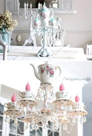 shabby chic chandeliers teacup chandelier tutorial shabby chic chandeliers