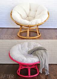 before after hot pink papasan chair