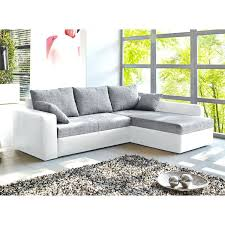 Roller Couch Weiss Grau