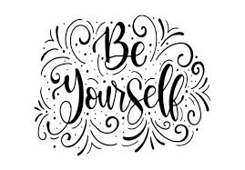 Believe in yourself hand lettering ink drawn motivation poster. 33 Be Yourself Designs Graphics