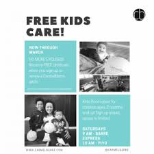 Free Childcare Advertising Free Child Care For Saturday Morning Carmelbarre Classes Old Monterey