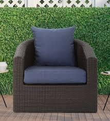 patio chair in multy brown navy