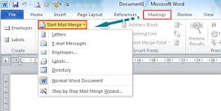 Where Is The Mail Merge In Microsoft Word 2007 2010 2013 And 2016