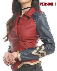 wonder woman leather jacket of princess diana