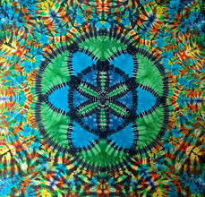 dropseed of life tie dye tapestry sacred geometry wall