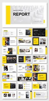 Ppt Style Business Report Clean Style Powerpoint Template