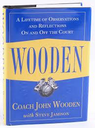 john wooden signed wooden hardcover book inscribed ucla psa coa