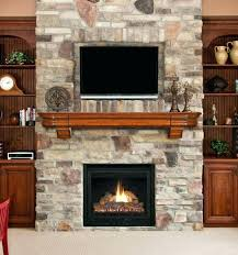 decoration living room fireplace stand electric and brick wall modern with wooden rack furniture tv