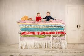 princess and the pea bed. Download Children On The Bed - Princess And Pea. Stock Image Of Pea