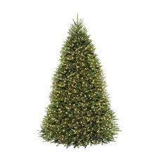 9 Ft PreLit Dunhill Fir Hinged Artificial Christmas Tree With Artificial Christmas Tree 9ft