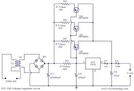 12v 15a voltage regulator electronic circuits and diagram 12v 15a voltage regulator circuit