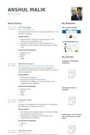 Php Developer Resume samples