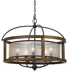 round wood chandelier